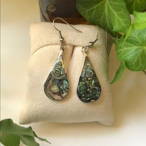 Sterling Silver Abalone inlay Earrings